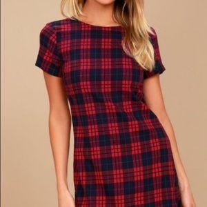 Lulu's Plaid Simple Cut Dress